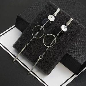 Silver Tone Long Earrings